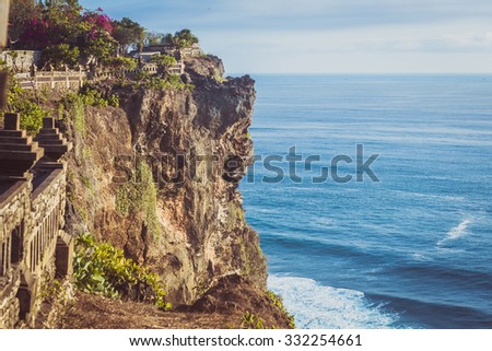 Uluwatu Tempel, Bali, Indonesia - stock photo