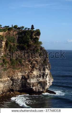Uluwatu Temple in Bali - stock photo