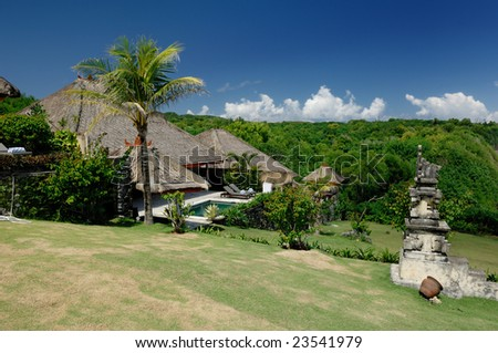 Uluwatu Villa of Bali - Indonesia - stock photo