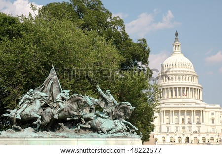 Ulysses S. Grant Memorial and United States Capitol Building