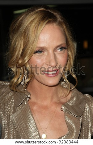 "Uma Thurman at the ""Ceremony"" Los Angeles Premiere, Arclight, Hollywood, CA. 03-22-11 - stock photo"