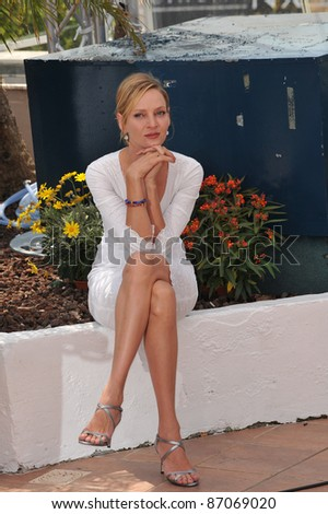 Uma Thurman at the photocall for the jury at the 64th Festival de Cannes. May 11, 2011  Cannes, France Picture: Paul Smith / Featureflash - stock photo
