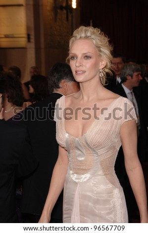 UMA THURMAN at the 78th Annual Academy Awards at the Kodak Theatre in Hollywood. March 5, 2006  Los Angeles, CA  2006 Paul Smith / Featureflash - stock photo