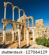 Umayyad city of Anjar, Lebanon. UNESCO World Heritage Site - stock photo