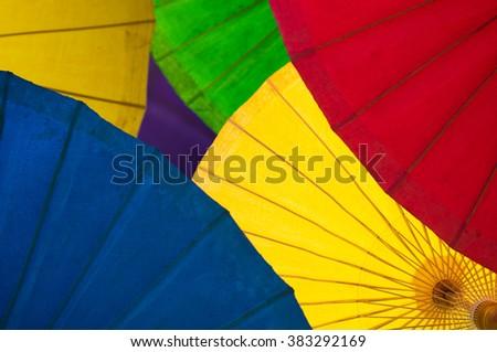 umbrella fullcolor background - stock photo