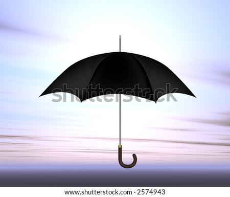 Umbrella in sky