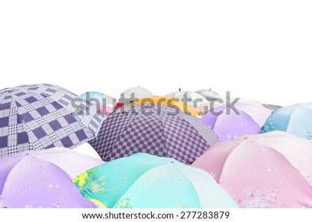 umbrella in white background - stock photo