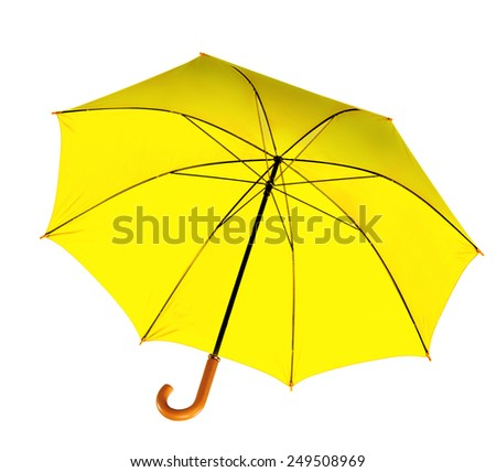 Umbrella isolated against white background. - stock photo