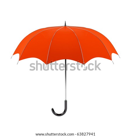 Umbrella isolated on a white background.