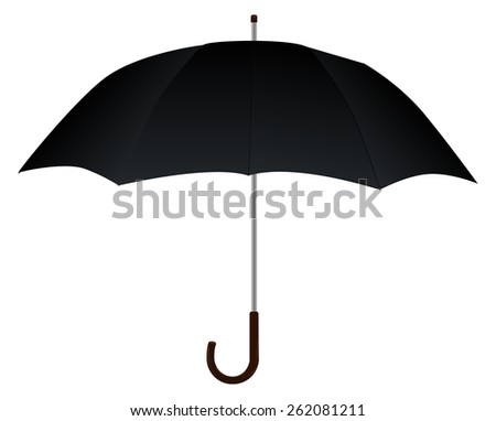 Umbrella isolated on white background. Raster version