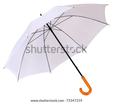 Umbrella isolated over white. - stock photo