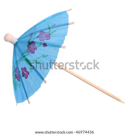 Umbrella Topical Cocktail Toothpick - stock photo