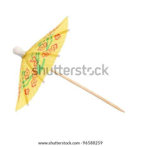 Umbrella Topical Cocktail Toothpick - stock photo