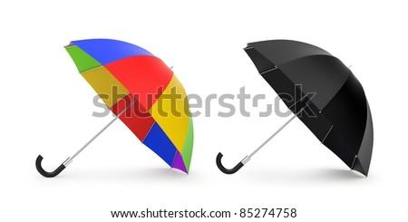 Umbrellas. Image contain clipping path - stock photo