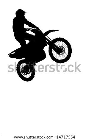 UMEA, SWEDEN - JUNE 28: Wille Snell making a high jump at Motocross USM championships, Sweden, june 28, 2008 - stock photo