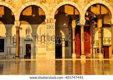 Ummyad Mosque at sunset, Damascus, Syria
