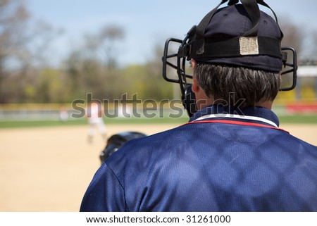 Umpire Calling Game - stock photo