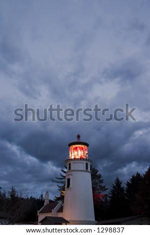 Umpqua River Lighthouse 2 - stock photo