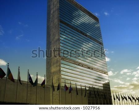 UN Headquarter - stock photo