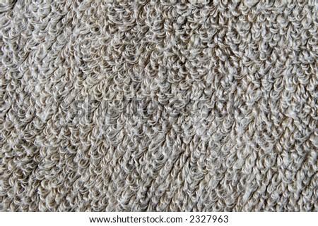 unbleached frotte linen texture - stock photo