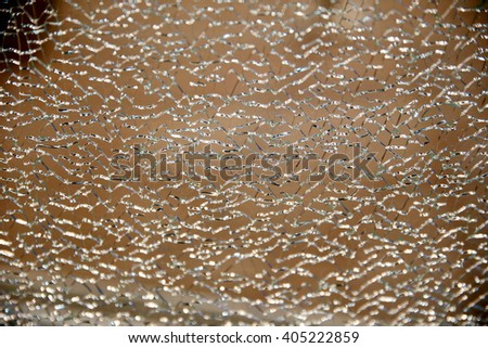 Unbreakable toughened tempered glass. Shallow depth of fields - stock photo