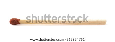 Unburnt match stick isolated - stock photo