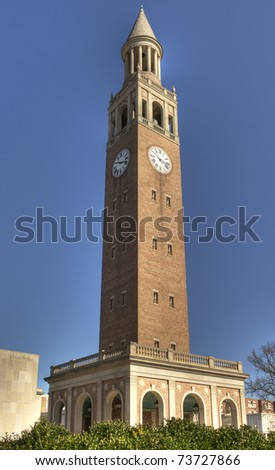 UNC Chapel Hill Bell Tower - stock photo