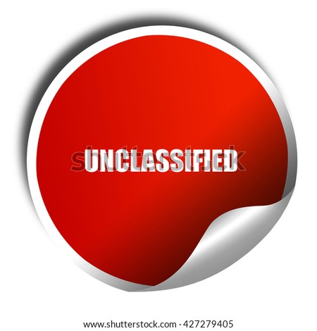 unclassified, 3D rendering, a red shiny sticker - stock photo