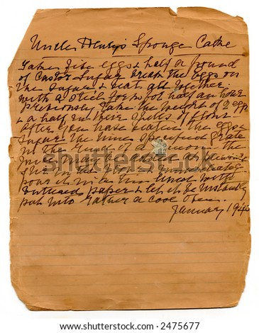 Uncle Henry's Sponge Cake recipe - stock photo