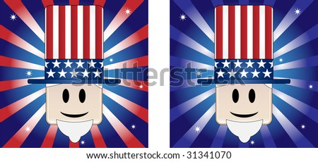 Uncle Sam Background with Stars and Stripe in american flag colors - stock photo