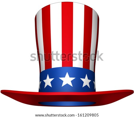 uncle sam hat - stock photo