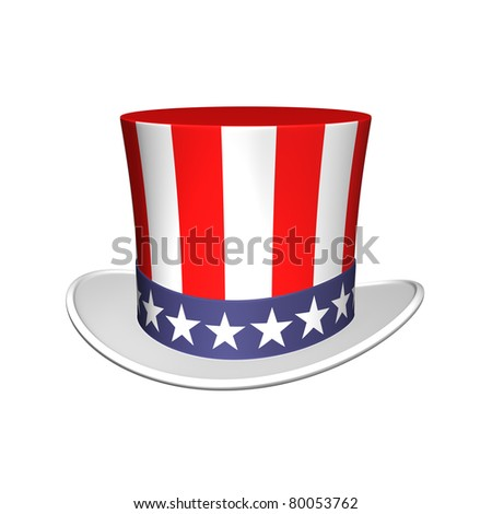 Uncle Sam hat - stock photo