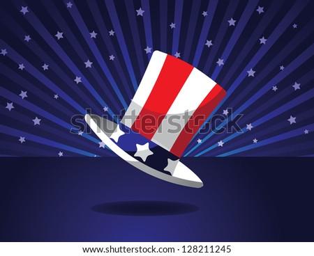 Uncle Sam Hat. JPG - stock photo
