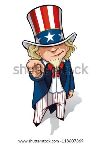 "Uncle Sam ""I Want You"" - stock photo"