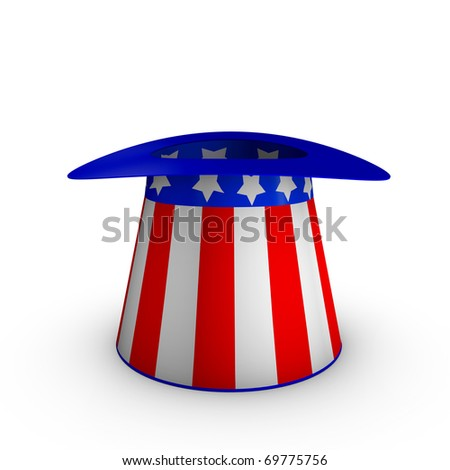Uncle Sam's American hat - stock photo