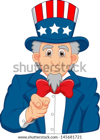 Uncle Sam Want You - stock photo