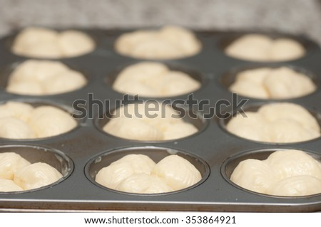 uncooked cloverleaf and crescent rolls made fresh baked at home - stock photo