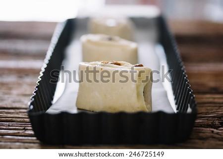 Uncooked danish pastry. - stock photo