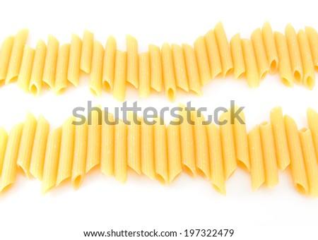 uncooked dried Italian spaghetti - stock photo