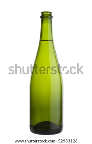 uncorked champagne bottle - stock photo