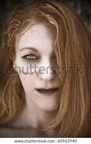 Undead woman. - stock photo