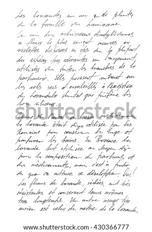 Undefined text french words handwritten letter stockfoto 430366777 undefined text with french words handwritten letter handwriting calligraphy manuscript script expocarfo
