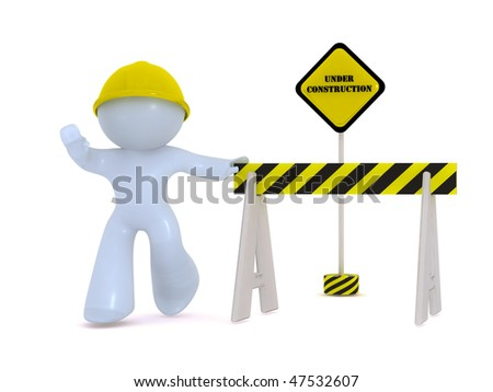 Under construction! - stock photo