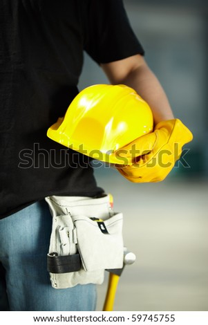 under construction - stock photo