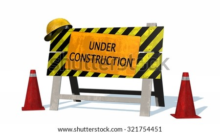 Under construction - barrier  - stock photo