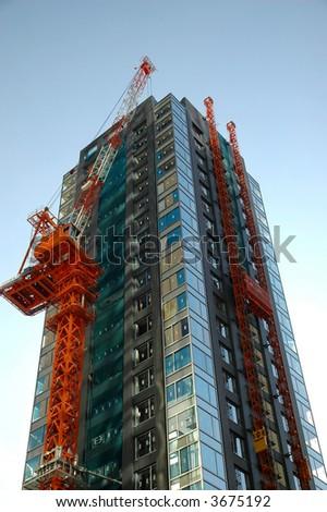 Under Construction building - stock photo