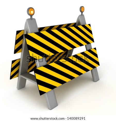 under construction 3d illustration - stock photo