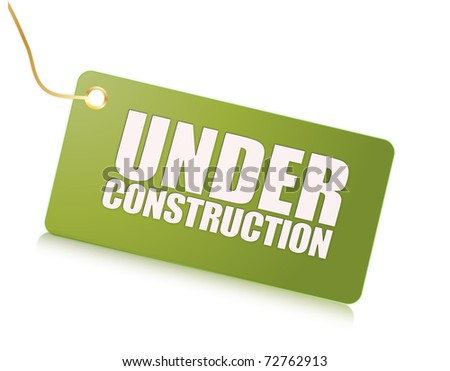 under construction illustration - stock photo