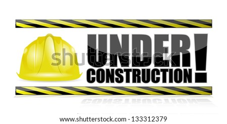 under construction illustration design over a white background