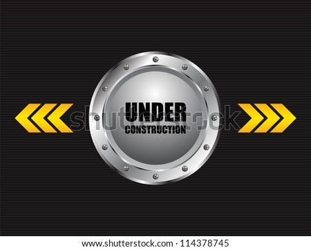 under construction industrial background - stock photo
